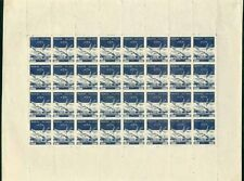Nepal 1958 Air 10p SHEET OF 32 three rows IMPERF HORIZ.