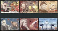More details for kiribati stamps 2006 mnh exploration & innovation darwin concorde mozart 12v set
