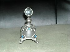 princess jeweled rhinestone perfume bottle on legs scroll genie bottle empty