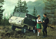 Brochure Dépliant Steyr Puch Haflinger 700 AP Italiano Raro