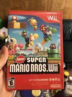 New Super Mario Bros. Wii (Nintendo Wii, 2009) Free Shipping