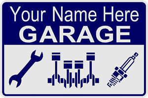 GARAGE ART SIGN - CUSTOMIZE WITH ANY NAME - MAN CAVE - NOVELTY
