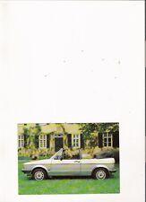 "VOLKSWAGEN GOLF CABRIOLET Genuine Factory Postcard ""Brochure"""