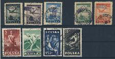 Lot Polen 1950 Groszy Aufdruck gestempelt zwischen Michel No. 564 - 667 gestemp.