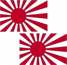 """Rising Sun Flag Decal SET 3""""x1.8"""" Japanese Military Japan Vinyl Car Sticker RH"""