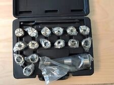 """R8 Taper Shank Full Grip Collet Chuck Set, 1"""" Cap., Collets: 1/8 to 1"""" by 16ths"""