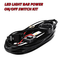 Universal Car Fog Work Light Lamp Dual DT5 Wiring Loom Harness Relay Switch Kit