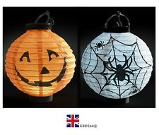 HALLOWEEN LIGHT UP 3D LANTERN Paper LED Hanging Bat Lamp Party Home Props UK
