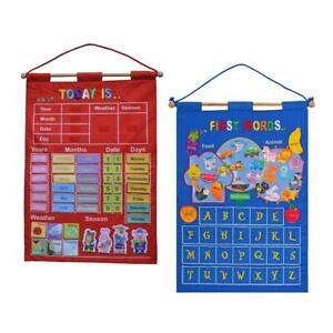 Children's Calendar Wall Chart, Kids Daily Calendar for Today's Date, Weekday,