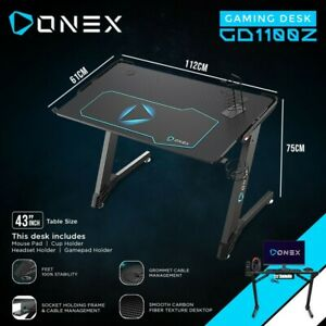 ONEX GD1100Z Z Shaped Large Gaming Computer Desk, Home Office Gaming Computer