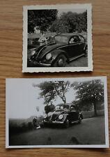 2 alte Fotos Früher VW Käfer Oldtimer