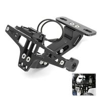Cnc Frame Motorcycle License Number Plate Holder Bracket With Led Light Adj K8R6