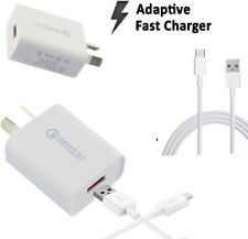 Qualcomm 3.0 ADAPTIVE FAST Charger Wall Adapter For S9 S8 7 6 Edge Note 9 5 9V