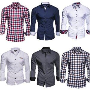 kayhan herren hemd business Modern Fit Slim männer Hemden langarm viele Farben