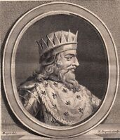Portrait XVIIIe Mérovée Merovech Merowech Roi Francs Saliens Mérovingiens