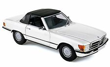 NOREV 1985 Mercedes 300SL (R107) Cabriolet / Soft-Top White Color *New Item!