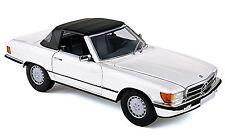 NOREV 1985 Mercedes 300SL (R107) Cabriolet / Soft-Top White Color *New Item!
