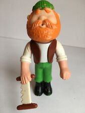 Kenner Cpg Lil Loggers Ranger Rick Water Squirt Man Figure Toy Lumberjack Saw