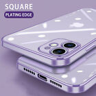 For iPhone 11 Pro Max X 8 7 6S Electroplate Silicone Ultra-thin Clear Soft Cover