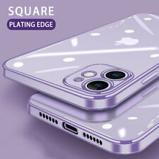 For iPhone 11 Pro Max X 8 7 6S Electroplate Silicone Ultra Slim Clear Soft Cover