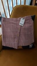 NEXT Girls pink Checked  Skirt , Age 9- NEW