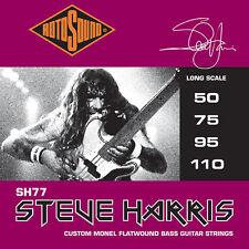ROTOSOUND SH77 STEVE HARRIS SIGNATURE CUSTOM FLATWOUND BASS STRINGS, 50-110