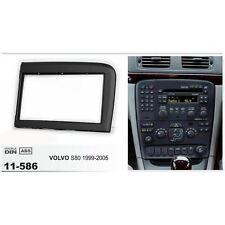 Fascia Stereo For Volvo S80 1999 2000 01-05 Trim Kit 2 Din Panel Dash Mount