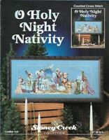 O Holy Night Nativity in Counted Cross Stitch Stoney Creek Leaflet 114 1st Print