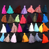 100PC Mixed Color 30mm Small Cotton Tassel Pendant DIY Earrings Jewelry Making