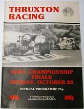 Thruxton barc championship racing 20th oct 1985 motor racing programme officiel