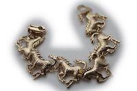 Women Fashion Jewelry Gold Bracelet Metal Horse Western Charm Casual Day Look