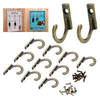 10Pcs Antique Wall/Door Hanging Hook Key Holder Clothes Hat Rack Hanger DIY Tool