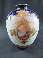 Hand Painted & Jeweled Noritake Vase c.1920-30