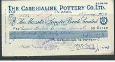 Wbc. - chèque-used-CH18-années 1970-munster & leinster banque cork-Carrigaline