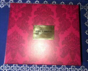 "DOLCE & GABBANA Beauty Gift Box Empty Mauve Gold Foil 8"" x 9"" Clean New"