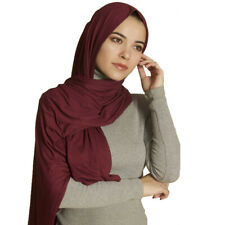 Maxi Long Jersey Elastic Shawls Hijab Wrap Head Scarf Muslim Islamic Girl Woman
