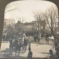 VTG Stereoview Card British Prince Henry Arriving at White House, Feb. 24, 1902