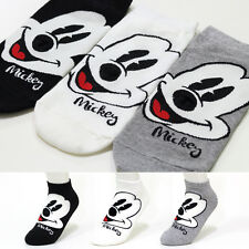 3 Pairs Women Girls Big Kid s Disney Character Socks Mickey Mouse Cartoon Socks