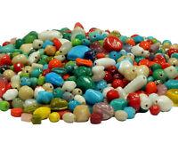 100g Indische Schmuck Perlen Keramik Glas Indianerperlen Gemischt BEST MIX21
