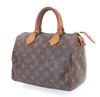 Authentic LOUIS VUITTON Speedy 25 Monogram Boston Hand Bag Purse #30723