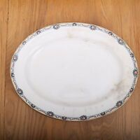 Vintage French Saxon China Floral Garland Pattern Large Serving Platter Plate