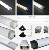5x 1M Aluminum Channel Profile Track +End Caps +Cover +Clips for LED Strip Light