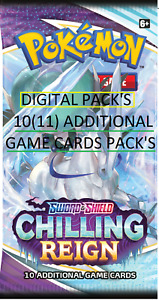 50 Chilling Reign Pokemon TCG Online Booster Pack CODE PTCGO Sent InGame CRE SS6