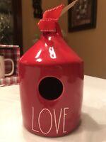 Rae Dunn 2019 Red LOVE Birdhouse LL NEW HTF!!