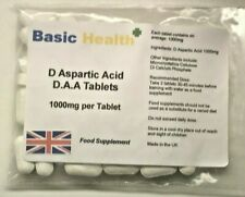 D-Aspartic Acid DAA 120 x 1000mg per Tablet Testosterone Booster Muscle Growth