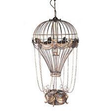 "Hot Air Balloon Metal Pendant Hanging Lamp Light 41"" Single Bulb Aviation Decor"