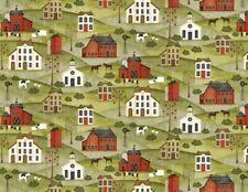 Country Fabric - The Way Home Primitive Home Church School - Wilmington YARD