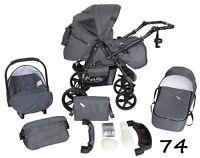 bébé landau poussette Buggy nacelle siège auto TORSADE 3 En 1 système de voyage