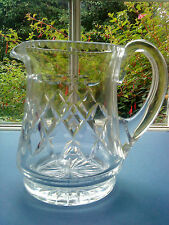 "STUART CRYSTAL GLASS WATER JUG 6.5"" TALL SIGNED"