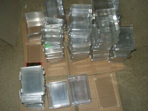 75 CT. LOT OF NICE PLASTIC USED CARD HOLDERS BOXES VARIOUS SIZES